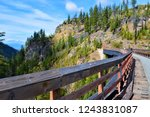 kettle valley rail trail ...   Shutterstock . vector #1243831087