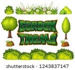 set of garden object... | Shutterstock .eps vector #1243837147