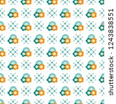 seamless pattern with buttons.... | Shutterstock .eps vector #1243838551