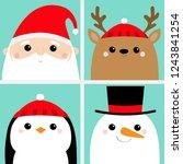 santa claus raindeer deer... | Shutterstock .eps vector #1243841254
