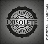 obsolete retro style black... | Shutterstock .eps vector #1243849681