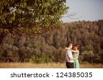 couple in love in the park at... | Shutterstock . vector #124385035