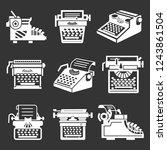 typewriter icon set. simple set ... | Shutterstock .eps vector #1243861504