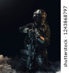 special forces soldier police ...   Shutterstock . vector #1243868797