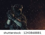 special forces soldier police ... | Shutterstock . vector #1243868881