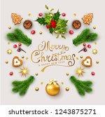 vector  template for christmas... | Shutterstock .eps vector #1243875271
