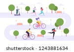 leisure outdoor activities... | Shutterstock .eps vector #1243881634