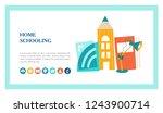 the concept of homeschooling.... | Shutterstock .eps vector #1243900714