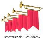 fanfare on a white background | Shutterstock . vector #124390267
