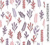 seamless pattern with pink and... | Shutterstock .eps vector #1243903594