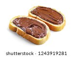 isolated pieces of loaf with... | Shutterstock . vector #1243919281