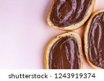 pieces of loaf with chocolate... | Shutterstock . vector #1243919374