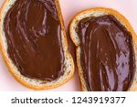 pieces of loaf with chocolate... | Shutterstock . vector #1243919377