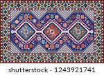 colorful oriental mosaic rug... | Shutterstock . vector #1243921741