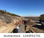 excavation and backfilling of... | Shutterstock . vector #1243931731