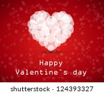 red diamond heart. valentine... | Shutterstock .eps vector #124393327