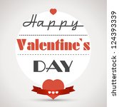 happy valentinecard with hearts.... | Shutterstock .eps vector #124393339