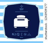 toaster oven icon. graphic...   Shutterstock .eps vector #1243939177
