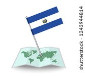 map with flag of el salvador...