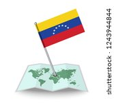 map with flag of venezuela... | Shutterstock .eps vector #1243944844