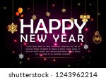 happy new year. holiday vector... | Shutterstock .eps vector #1243962214