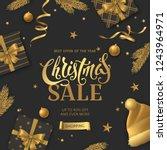vector christmas sale banner... | Shutterstock .eps vector #1243964971