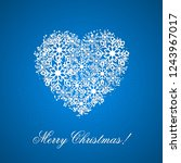 blue christmas background with... | Shutterstock .eps vector #1243967017