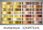 vector banners with gold and... | Shutterstock .eps vector #1243972141