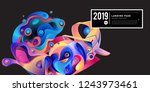 landing page banner vector... | Shutterstock .eps vector #1243973461
