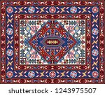 colorful oriental mosaic rug... | Shutterstock . vector #1243975507