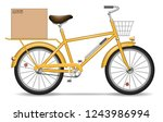 realistic vector bicycle with... | Shutterstock .eps vector #1243986994