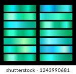 vector emerald green gradient... | Shutterstock .eps vector #1243990681