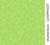 seamless silhouette vegetable...   Shutterstock .eps vector #1243994107