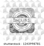 injure grey emblem with... | Shutterstock .eps vector #1243998781
