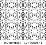 decorative vector seamless... | Shutterstock .eps vector #1244000641