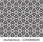 decorative vector seamless... | Shutterstock .eps vector #1244000644