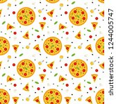bright vector seamless pattern... | Shutterstock .eps vector #1244005747