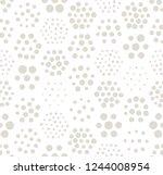 geometric hexagon seamless... | Shutterstock .eps vector #1244008954