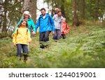 multi generation family walking ... | Shutterstock . vector #1244019001