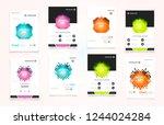 abstract vector business... | Shutterstock .eps vector #1244024284