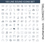 sound icons. set of 100 line...   Shutterstock .eps vector #1244027581