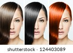 fashion hairstyle collage  ... | Shutterstock . vector #124403089