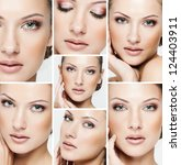 collage of a beautiful woman... | Shutterstock . vector #124403911