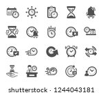 time icons. set of calendar ... | Shutterstock .eps vector #1244043181