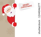 santa claus holding a sign. eps ... | Shutterstock .eps vector #1244046277