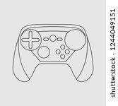 gamepad icon videogame... | Shutterstock .eps vector #1244049151