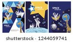 the cover design of the... | Shutterstock .eps vector #1244059741