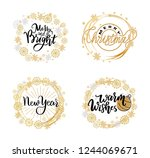 new year  merry and bright ... | Shutterstock .eps vector #1244069671