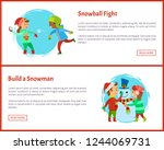 snowball fights and build a... | Shutterstock .eps vector #1244069731