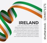 ireland flag  vector... | Shutterstock .eps vector #1244071171